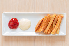 French fries. Homemade french fries,Unhealthy food Royalty Free Stock Photography