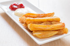 French fries. Homemade french fries,Unhealthy food Royalty Free Stock Photos