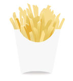 French fries icon. Isolated on white vector illustration