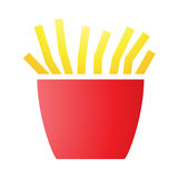 French Fries Icons Stock Photo