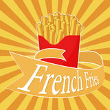 French Fries illustration Stock Photography