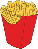 French fries. Illustration of fast food in the form of French fries Royalty Free Stock Images