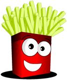 French fries. Illustration representing a cartoon pack full of french fries vector illustration