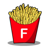 French fries. Illustrator of french fries in red box Stock Photography