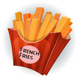 French Fries Inside Box Stock Image