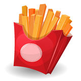 French Fries Inside Red Package Royalty Free Stock Photos