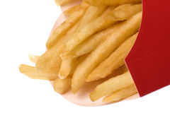 French Fries Isolated Royalty Free Stock Photo