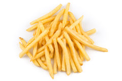 French fries isolated Royalty Free Stock Images