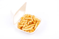 French fries - isolated Royalty Free Stock Photography