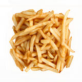 French Fries Isolated on White. Background stock images