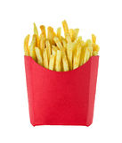 French fries isolated on white Royalty Free Stock Photo