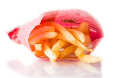 French fries isolated on white background Stock Photos