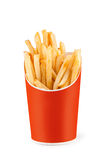 French fries. Isolated on White Background Stock Photos