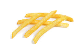 French fries isolated on the white background Stock Images