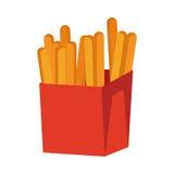French Fries Isolated on White. Crispy Potatoes Stock Image