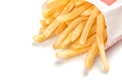 French fries isolated on white Stock Images