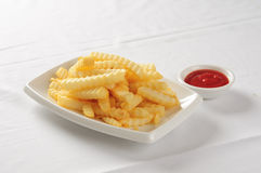 French Fries & Ketchup Royalty Free Stock Images