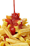 French fries and ketchup Royalty Free Stock Image