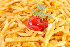 french fries and ketchup Royalty Free Stock Photo