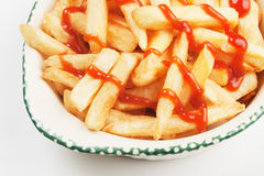 French fries with ketchup Stock Photo