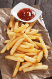 French fries with ketchup Royalty Free Stock Photo