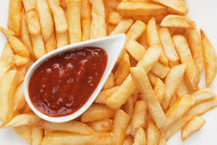 French fries with ketchup Stock Images
