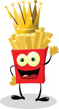 French fries King Royalty Free Stock Images