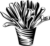 French fries. Line art french fries clip art image Royalty Free Stock Photo