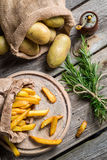 French fries made ​​from potatoes Royalty Free Stock Photo