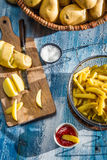 French fries made ​​from potatoes Stock Photo