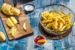 French fries made from potatoes Stock Image