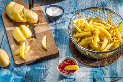 French fries made from potatoes Royalty Free Stock Photography