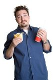 French Fries Man Royalty Free Stock Images