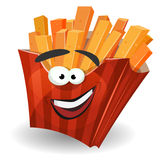 French Fries Mascot Character Stock Photo