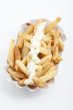 French fries and mayonnaise Royalty Free Stock Image