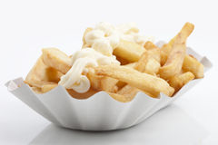 French fries and mayonnaise Stock Photo