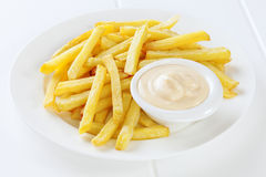 French Fries Mayonnaise Royalty Free Stock Photos