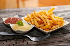French fries for snack Stock Photos