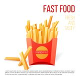 French fries. Over white background royalty free illustration