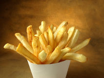 French Fries and package Stock Image