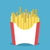 French fries in package Royalty Free Stock Image