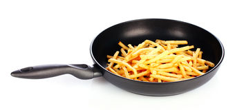 French fries in the pan Stock Image