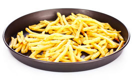 French fries in the pan isolated Royalty Free Stock Photo