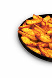 French fries in the pan Stock Photo