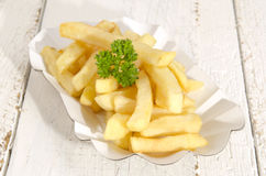 French fries in a paper bowl Royalty Free Stock Photography
