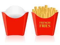 French fries paper box Stock Photo