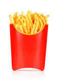 French fries in a paper wrapper Stock Images