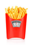 French fries in a paper wrapper Royalty Free Stock Photos
