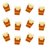 French fries pattern Royalty Free Stock Images