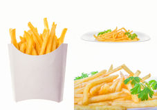 French fries pictures in multiple shots Stock Photography